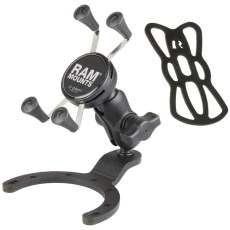 "RAM Large Gas Tank Mount with B Size 1"" Ball Short Arm and X-Grip for Phones"