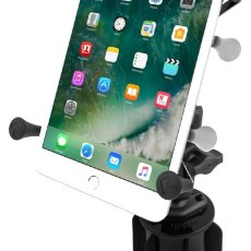 "RAM-A-CAN™ II Universal Cup Holder Mount with Universal X-Grip® Cradle for 7""-8"" Tablets"