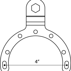 Measure for large gas tank mount