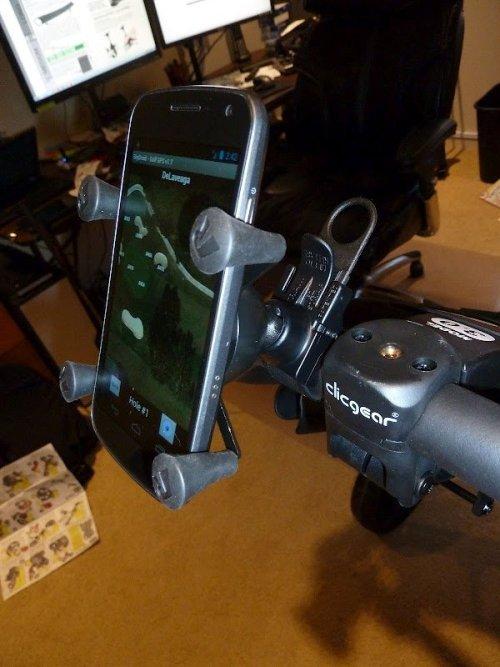 RAM EZ-Strap™ Rail Mount with Universal X-Grip® Cell Phone Cradle