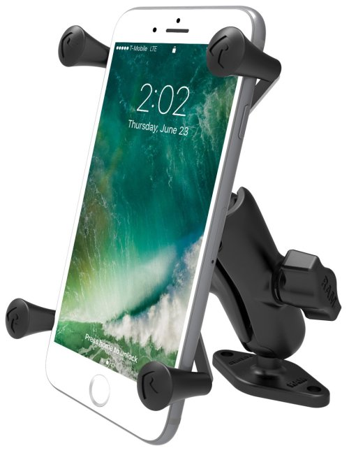 "RAM 1"" Ball Mount with Diamond Base & Universal X-Grip® Large Phone/Phablet Cradle"