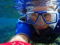 man snorkeling
