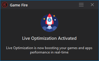 Game Fire 6.4 - Live Optimization - Real-time Game Booster