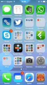 iOS7 auf dem iPhone 5 installiert