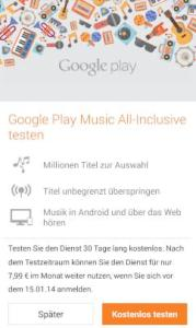 Google Play Music All Inclusive im Test