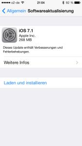 iOS7.1 installiert