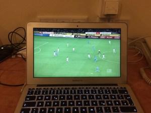 Gladbach gegen HSV mit Sky Go am MacBook Air