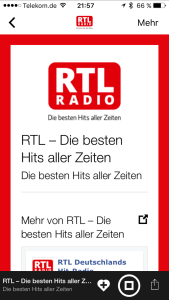 RTL via Radioplayer