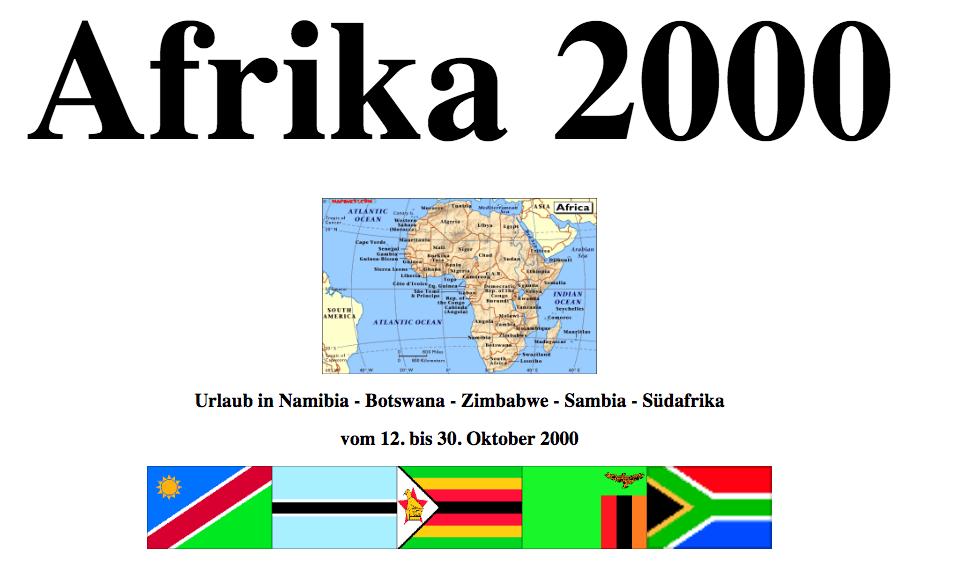 Rückblick auf Afrika 2000