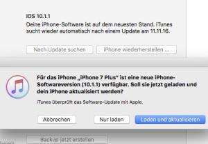 Update von iOS 10.1.1 auf iOS 10.1.1