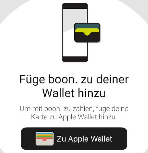 Apple Pay von Boon seit März im Einsatz