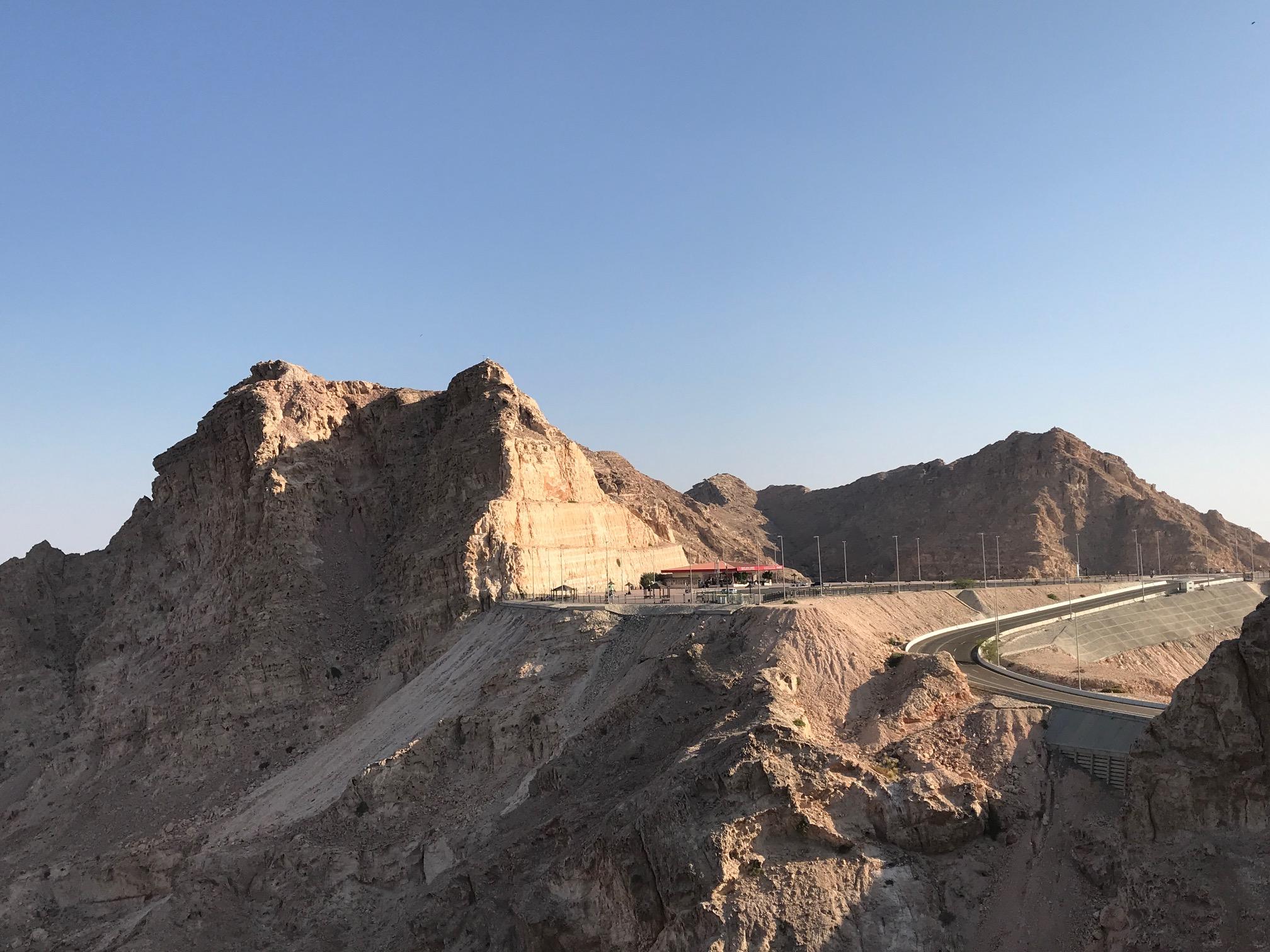 Blick auf den Jebel Hafeed