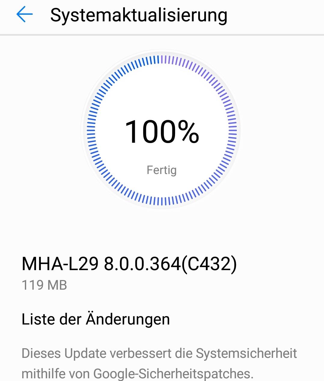 Sicherheits-Update für Huawei Mate 9