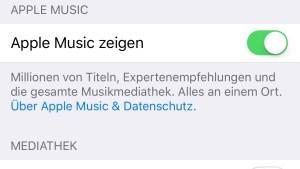 iCloud-Musikmediathek abgeschaltet
