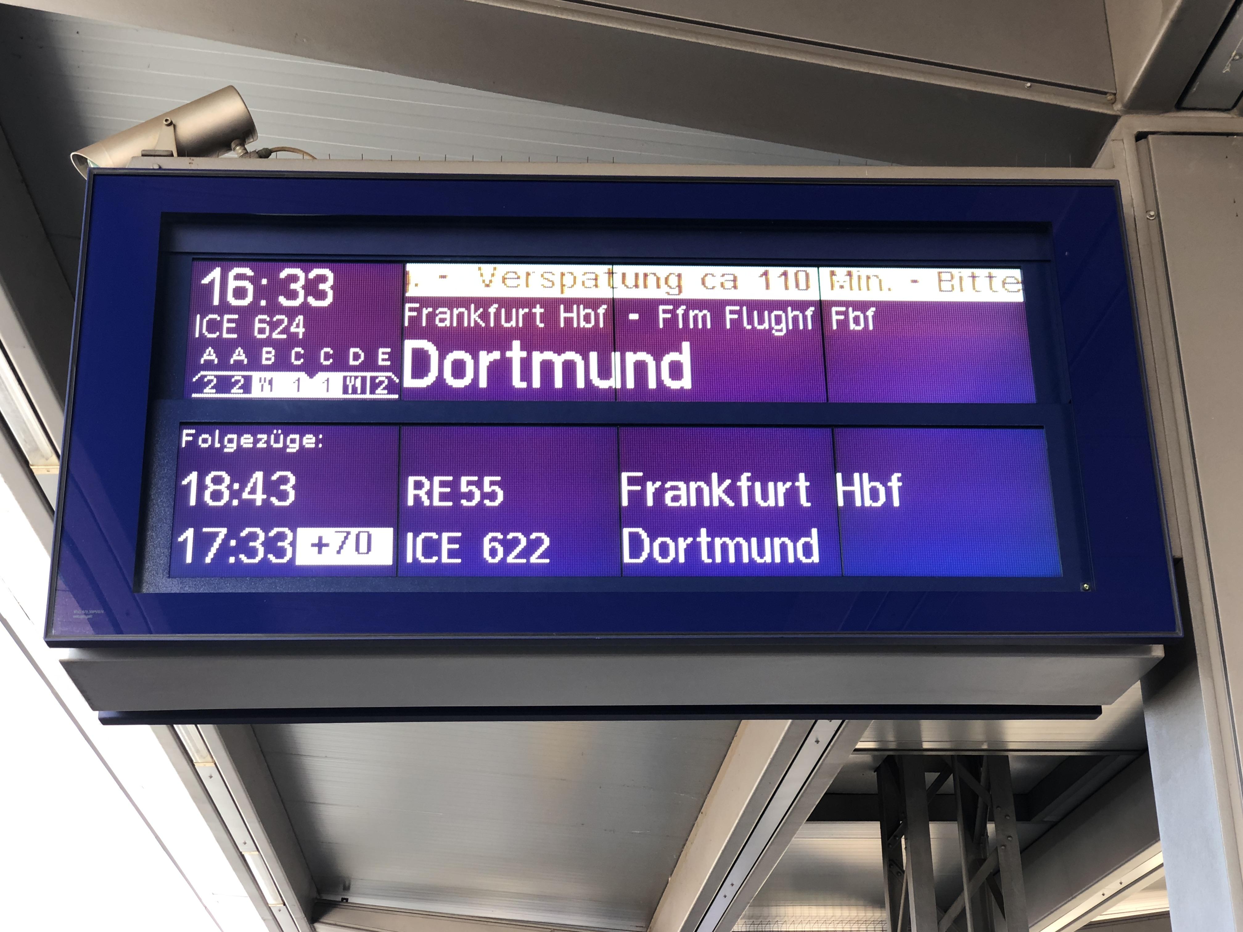 Fast zwei Stunden Verspätung auf dem Rückweg aus München