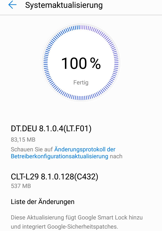 Update für Huawei P20 Pro
