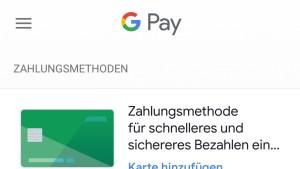 Kreditkarte für Google Pay verschwunden (Foto: SmartPhoneFan.de)