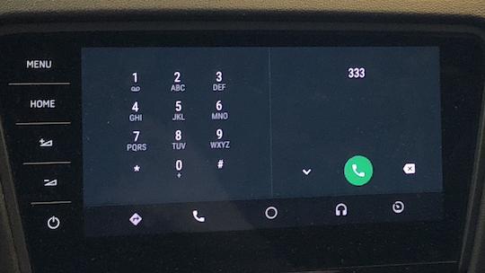 Virtuelle Taste zum Beenden der Verbindung fehlt (Foto: SmartPhoneFan.de)