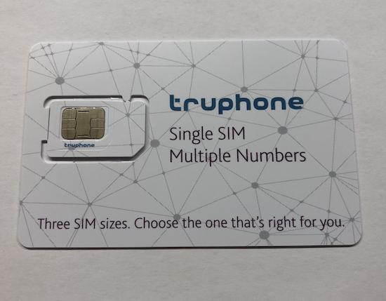 SIM-Karte von Truphone (Foto: SmartPhoneFan.de)