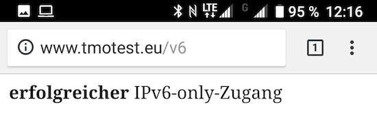 IPv6 im Telekom-Mobilfunknetz (Foto: SmartPhoneFan.de)