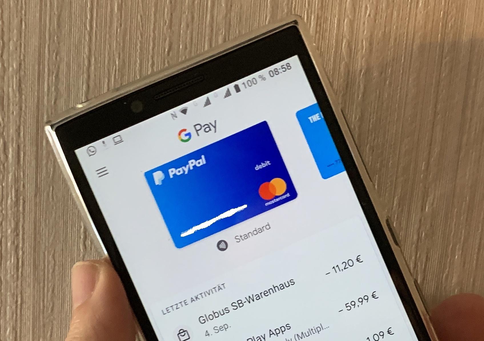 Google Pay mit PayPal nutzbar (Foto: SmartPhoneFan.de)