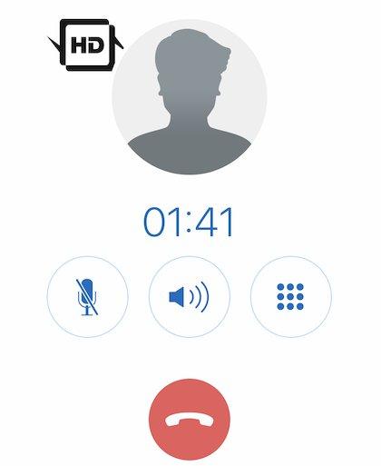 Telefonat über die FRITZ!App Fon auf dem iPhone XS Max (Foto: SmartPhoneFan.de)