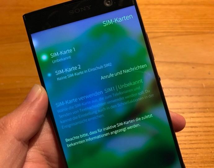 Sailfish 3 unterstützt auch Dual-SIM (Foto: SmartPhoneFan.de)