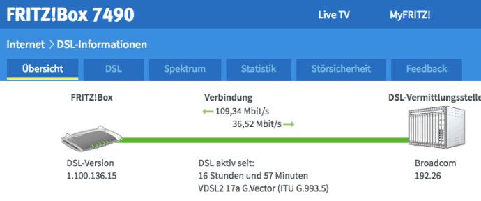 VDSL Vectoring ist aktiv (Foto: SmartPhoneFan.de)