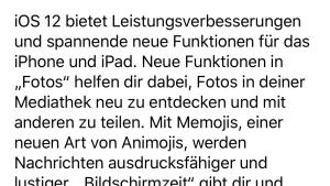 iOS 12.1.1 installiert (Foto: SmartPhoneFan.de)