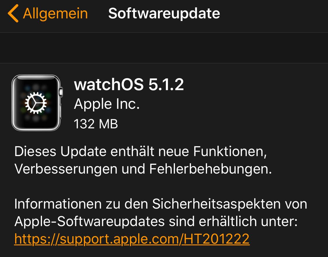 watchOS 5.1.2 ist da (Foto: SmartPhoneFan.de)