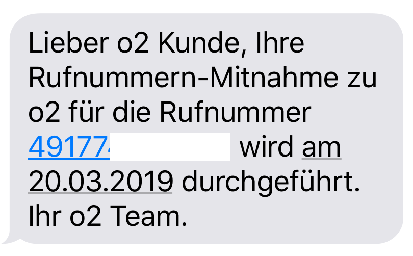 Rufnummernportierung am kommenden Mittwoch (Foto: SmartPhoneFan.de)