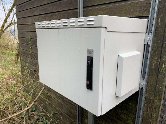 """Sendebox"" am Merziger Standort des Saarländischen Rundfunks (Foto: SmartPhoneFan.de)"