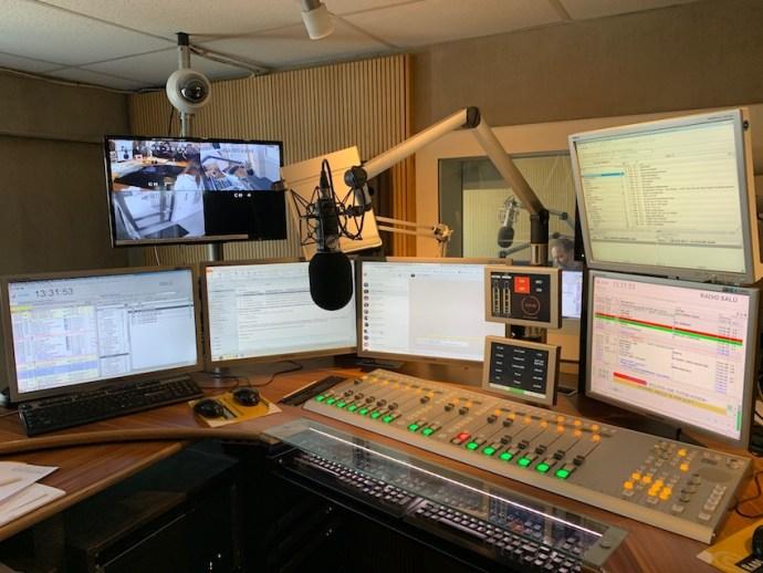 Blick ins Sendestudio von Radio Salü (Foto: SmartPhoneFan.de)