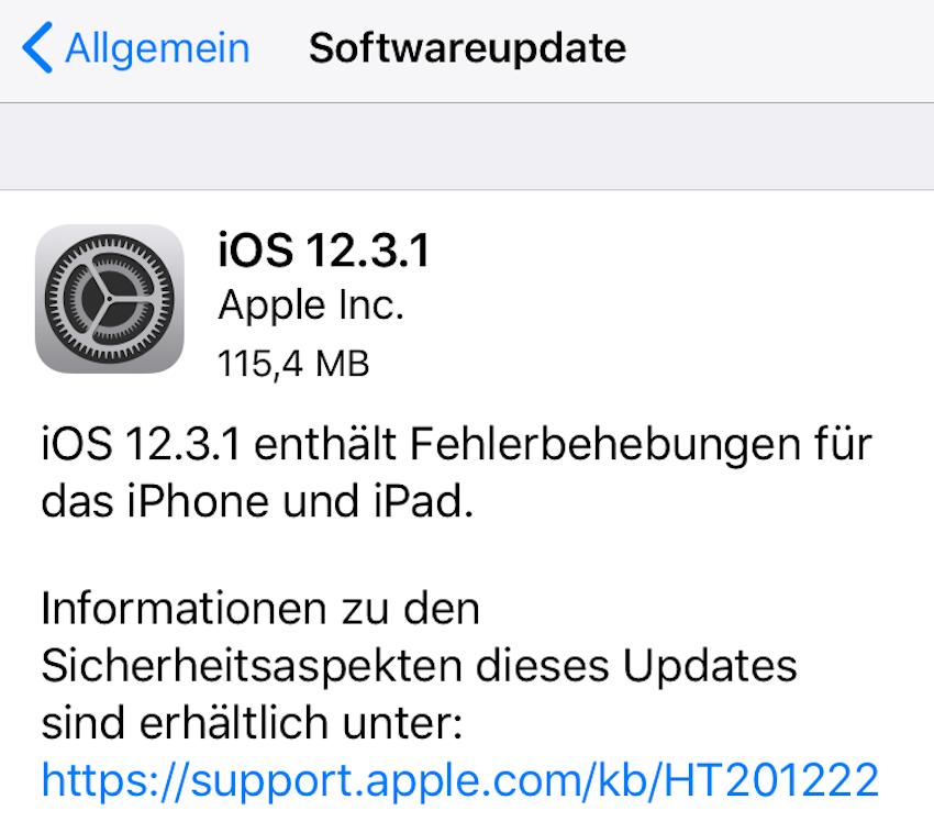 iOS 2.3.1 installiert (Foto: SmartPhoneFan.de)