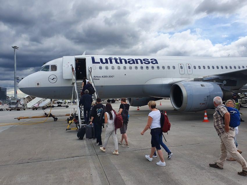 Durchwachsenes Wetter bei der Abreise in Frankfurt (Foto: SmartPhoneFan.de)