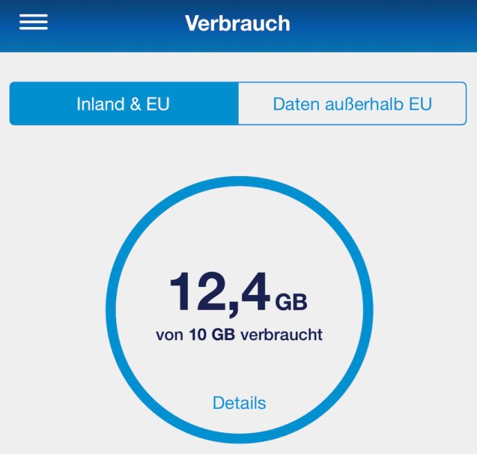 Datenverbrauch auf früheren E-Plus-Vertrag (Foto: SmartPhoneFan.de)