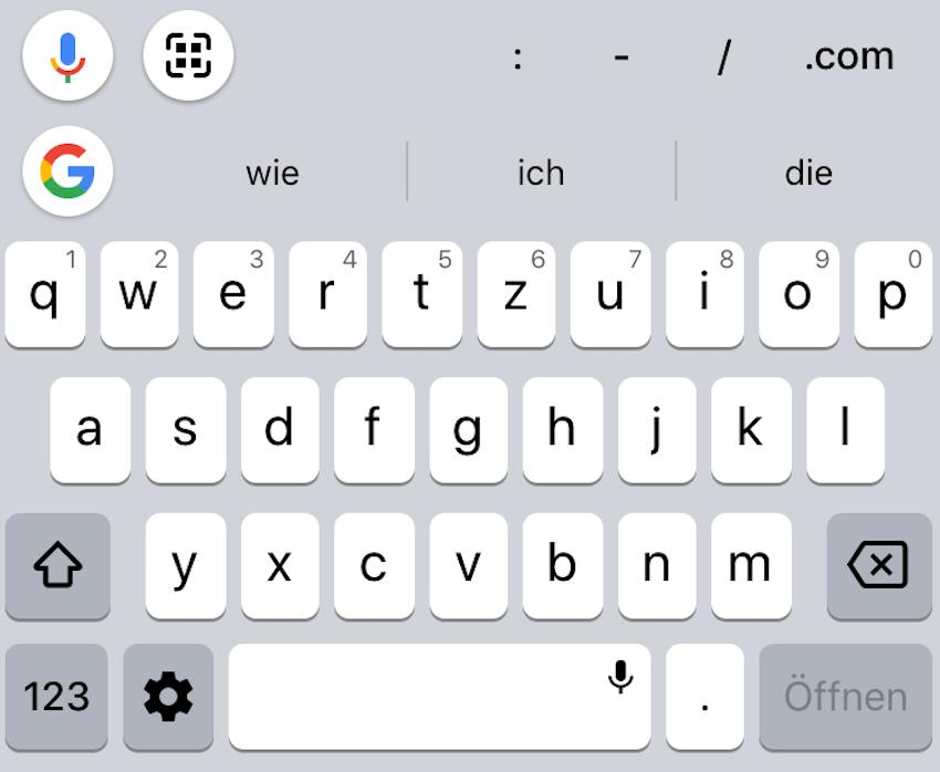 Gboard auf dem iPhone XR (Foto: SmartPhoneFan.de)