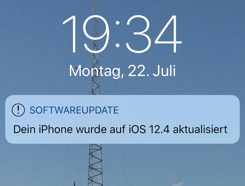 iOS 12.4 installiert (Foto: SmartPhoneFan.de)
