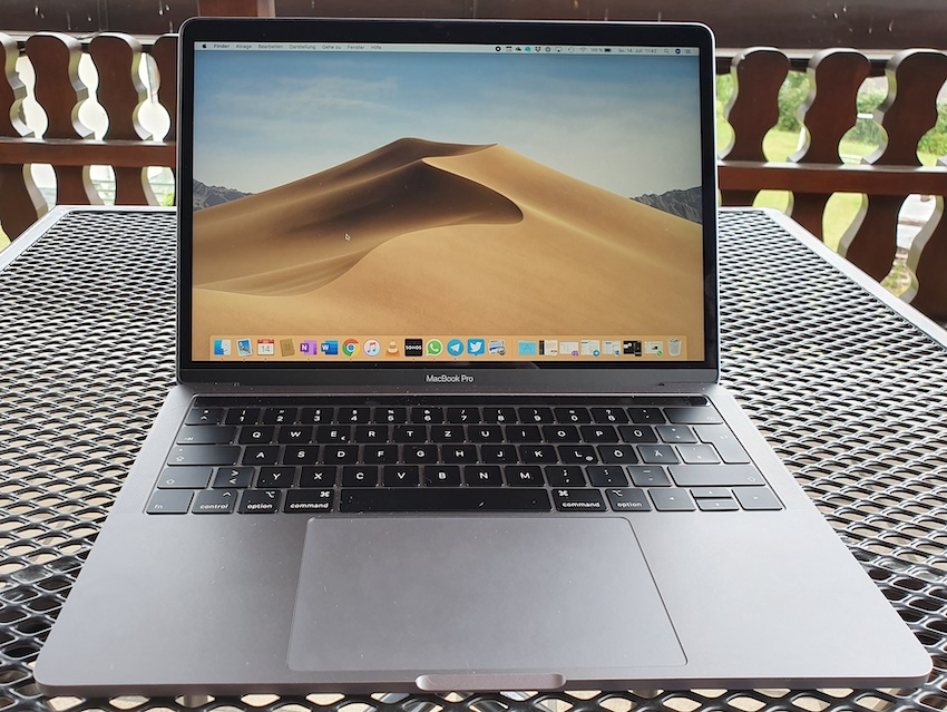 MacBook Pro 2019 mit Retina-Display (Foto: SmartPhoneFan.de)