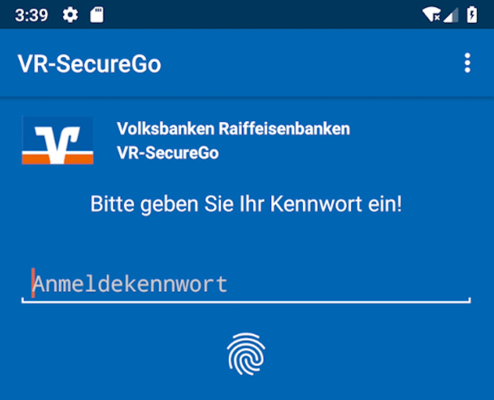 VR SecureGo überzeugt nicht (Foto: VR Banken im Google Play Store)