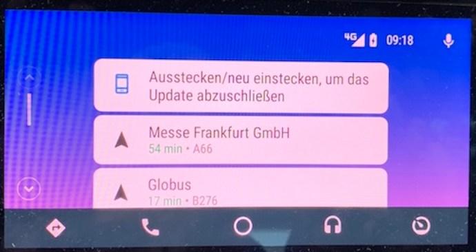Zur Umstellung muss die Verbindung kurz getrennt werden (Foto: SmartPhoneFan.de)