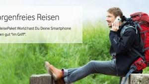 Vodafone wirbt fürs ReisePaket (Quelle: Vodafone, Screenshot: SmartPhoneFan.de)