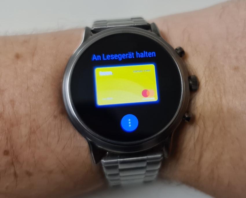 Boon auf der Fossil Smartwatch (Foto: SmartPhoneFan.de)