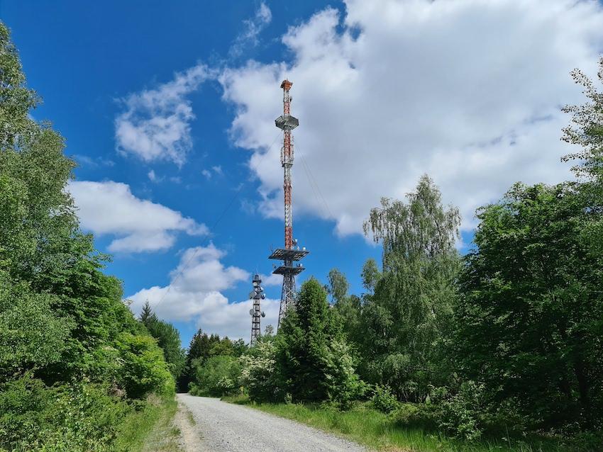 Sendeanlagen auf dem Geiersberg im Spessart (Foto: SmartPhoneFan.de)