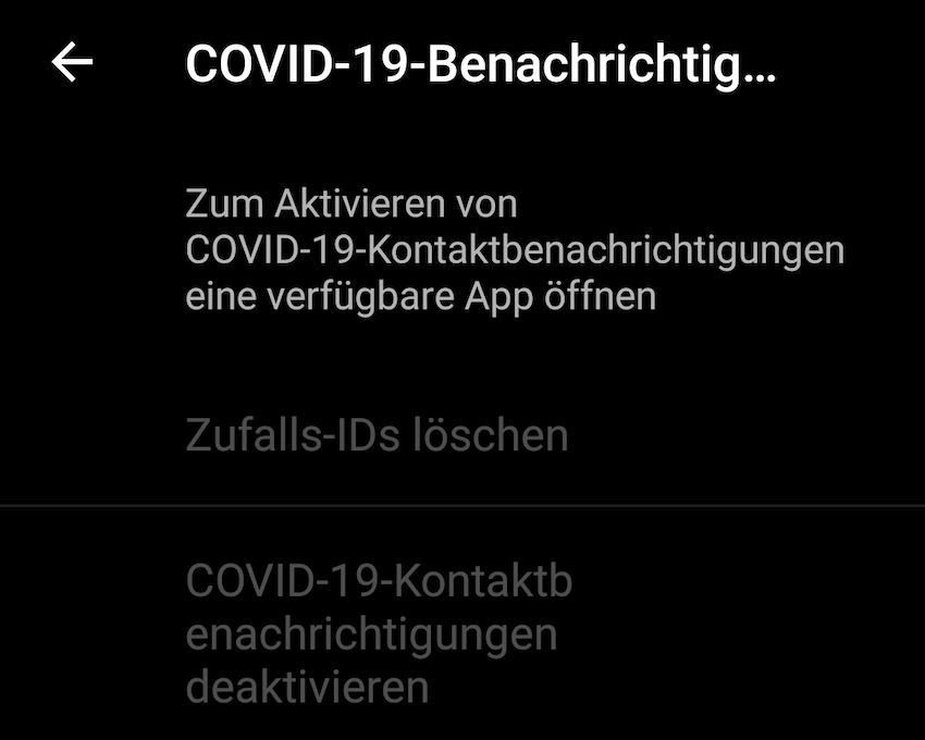 Corona-API auf dem Samsung Galaxy S20 Ultra (Foto: SmartPhoneFan.de)