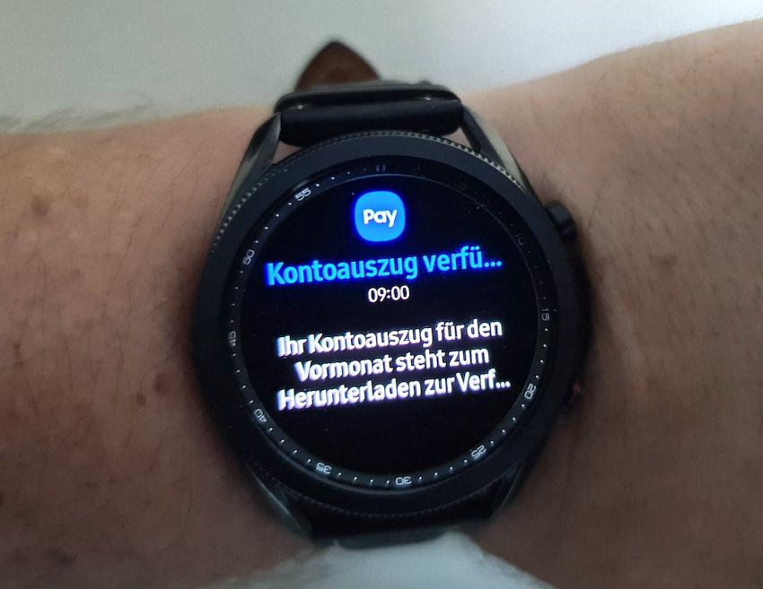 Push-Info von Samsung Pay (Foto: SmartPhoneFan.de)