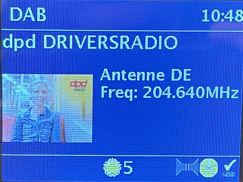 dpd Driver's Radio auf DAB+ (Foto: SmartPhoneFan.de)