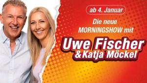 Uwe Fischer und Kaja Möckel bei Hitradio RTL (Foto: Hitradio RTL)