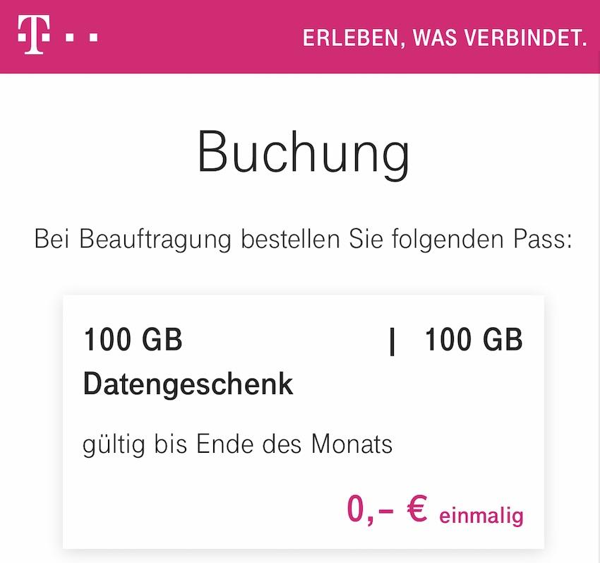 100 GB geschenkt (Screenshot: SmartPhoneFan.de)