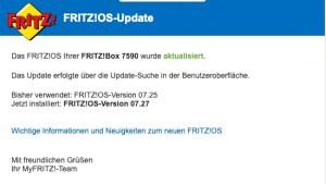 FRITZ!OS 7.27 installiert (Foto: SmartPhoneFan.de)